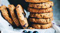 Blueberry, almond and oat cookies