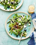 Blueberry and grilled asparagus salad