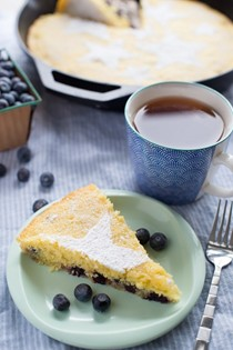 Blueberry-lemon skillet cake