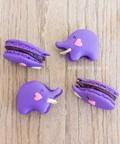 Blueberry purple elephant macarons