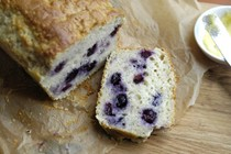 Blueberry quinoa loaf