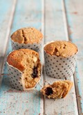 Blueberry, white chocolate & lime muffins
