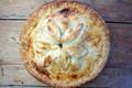 Bramley apple and sausage pie