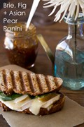 Brie, fig and Asian pear panini