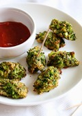 Broccoli and cheese tots