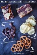 Brookie recipe with salty sweet snack treats