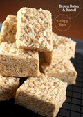 Brown butter & Biscoff crispy treat bars