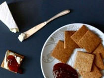 Brown butter-hazelnut crackers