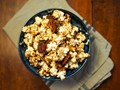 Brown-butter maple popcorn with pecans