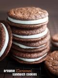 Brownie caramel sandwich cookies
