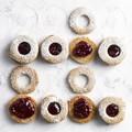 Buckwheat Linzer cookies
