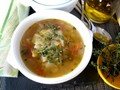 Cabbage soup from Majorca (Mayorquina)