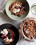 Candied ginger, coconut and quinoa granola