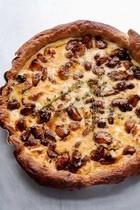 Caramelized garlic tart