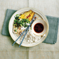 Cha ca sole with coconut rice