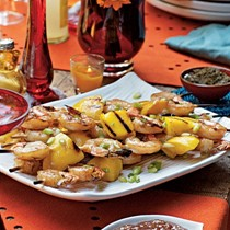 Chai-brined shrimp