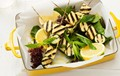 Chargrilled haloumi & zucchini kebabs