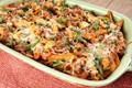 Cheesy beef and pasta casserole