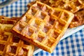 Cheesy chipotle waffles recipe with hibiscus salt