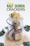 Cheezy kale & quinoa crackers