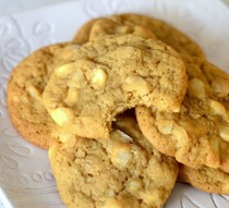 Chewy brown sugar white chocolate macadamia nut cookies