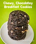 Chewy chocolatey breakfast cookies