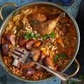 Chicken & sausage white bean pot