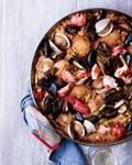 Chicken-and-seafood paella
