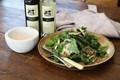 Chicken, asparagus and lentil salad