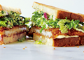 Chicken cutlet sandwiches with Savoy cabbage slaw