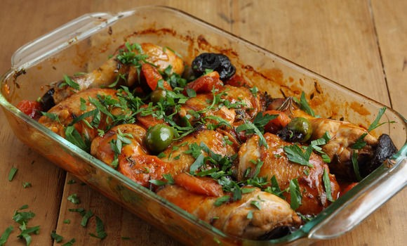 Braised Chicken With Tomatoes And Olives (Poulet Provencal ...