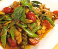 Chicken red curry stir-fry (ผัดเผ็ดไก่) (Pad ped gai)