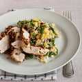 Chicken with watercress and bulgar wheat