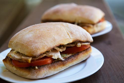 Chicken, zucchini, and ricotta sandwich from Simply Recipes by Elise ...