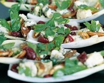 Chicory, blue cheese, pecan and cranberry salad