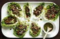 Chile beef lettuce wraps