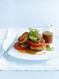 Chilli and lime fish cakes with cucumber salad