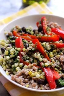 Chimichurri summer vegetable bowls