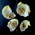 Chinese minced chicken wraps (Saang choy bao)