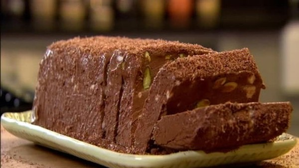 Chocolate and pistachio semifreddo from Channel 4 by Gordon Ramsay
