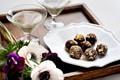 Chocolate-bourbon truffles