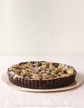 Chocolate chip cherry cookie tart