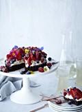 Chocolate frangipane tart with berries