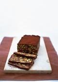 Chocolate fridge cake with pecan & meringues