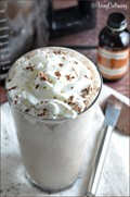 Chocolate iced coffee frappe