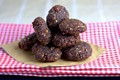 Chocolate, orange, date & seed energy balls