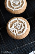 Chocolate spiderweb sugar cookies