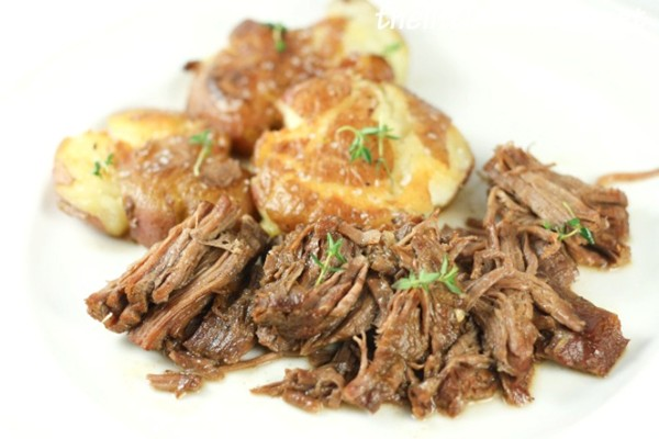 Classic roast beef &amp; smashed Yukon gold potatoes