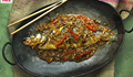 Classic Sichuanese dry-braised fish