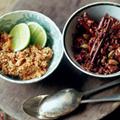 Coconut rice and pol sambal